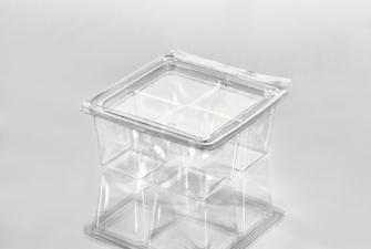 T24159 Square Cube 4 Compartment Empty